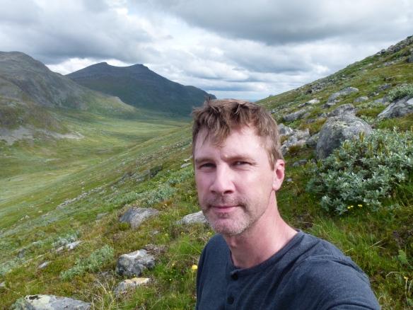Selfie på väg upp för Grönfjäll